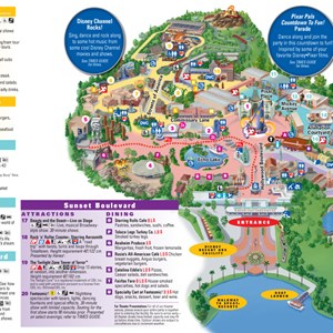 8 of 8: Walt Disney World Park and Resort Maps - Disney's Hollywood Studios guidemap 2013