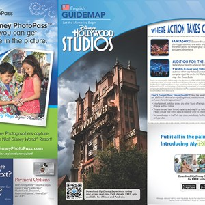 3 of 20: Walt Disney World Park and Resort Maps - New 2013 Disney's Hollywood Studios Guidemap Page 1