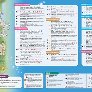 4 of 20: Walt Disney World Park and Resort Maps - New 2013 Disney's Hollywood Studios Guidemap Page 2