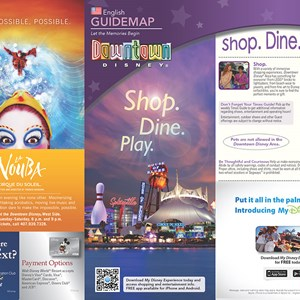 11 of 20: Walt Disney World Park and Resort Maps - New 2013 Downtown Disney Guidemap Page 1