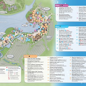 12 of 20: Walt Disney World Park and Resort Maps - New 2013 Downtown Disney Guidemap Page 2