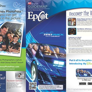 5 of 20: Walt Disney World Park and Resort Maps - New 2013 Epcot Guidemap Page 1