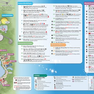6 of 20: Walt Disney World Park and Resort Maps - New 2013 Epcot Guidemap Page 2