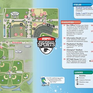 14 of 20: Walt Disney World Park and Resort Maps - New 2013 ESPN World of Sports Guidemap Page 2
