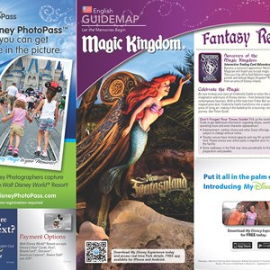 7 of 20: Walt Disney World Park and Resort Maps - New 2013 Magic Kingdom Guidemap Page 1
