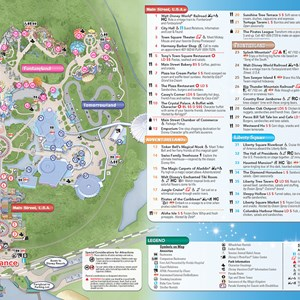 8 of 20: Walt Disney World Park and Resort Maps - New 2013 Magic Kingdom Guidemap Page 2