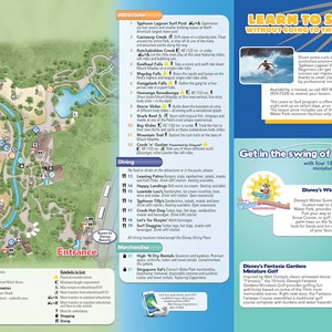 9 of 20: Walt Disney World Park and Resort Maps - New 2013 Typhoon Lagoon Guidemap