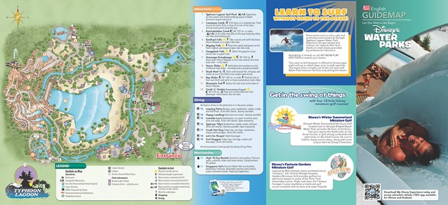 Walt Disney World Park and Resort Maps - New 2013 Typhoon Lagoon Guidemap