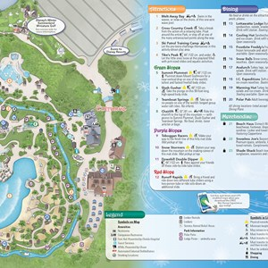 10 of 20: Walt Disney World Park and Resort Maps - New 2013 Blizzard Beach Guidemap