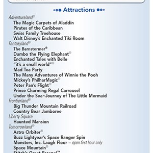 17 of 20: Walt Disney World Park and Resort Maps - New 2013 Evening EMH Times Guide Page 1