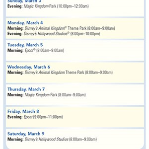 18 of 20: Walt Disney World Park and Resort Maps - New 2013 Evening EMH Times Guide Page 2