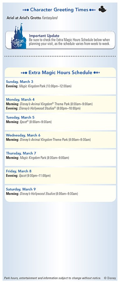 Walt Disney World Park and Resort Maps - New 2013 Evening EMH Times Guide Page 2