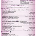 Walt Disney World Park and Resort Maps - New 2013 Times Guide Page 2