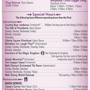 20 of 20: Walt Disney World Park and Resort Maps - New 2013 Times Guide Page 2