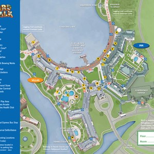 3 of 37: Walt Disney World Park and Resort Maps - New 2013 BoardWalk Resort map