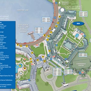 4 of 37: Walt Disney World Park and Resort Maps - New 2013 BoardWalk Inn Resort map