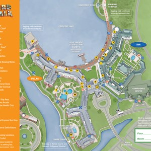 5 of 37: Walt Disney World Park and Resort Maps - New 2013 BoardWalk Villas Resort map