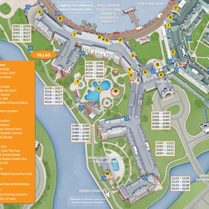 6 of 37: Walt Disney World Park and Resort Maps - New 2013 BoardWalk Villas Resort map