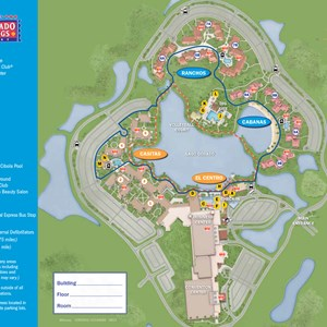 14 of 37: Walt Disney World Park and Resort Maps - New 2013 Coronado Springs Resort map - Cabanas and Ranchos