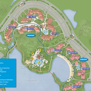 15 of 37: Walt Disney World Park and Resort Maps - New 2013 Coronado Springs Resort map - Cabanas and Ranchos