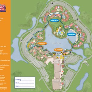 16 of 37: Walt Disney World Park and Resort Maps - New 2013 Coronado Springs Resort map - Casitas and El Centro