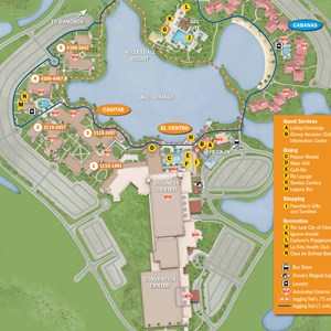 17 of 37: Walt Disney World Park and Resort Maps - New 2013 Coronado Springs Resort map - Casitas and El Centro