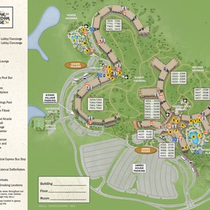 19 of 37: Walt Disney World Park and Resort Maps - New 2013 Animal Kingdom Lodge map