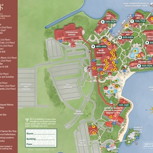 21 of 37: Walt Disney World Park and Resort Maps - New 2013 Grand Floridian Resort map