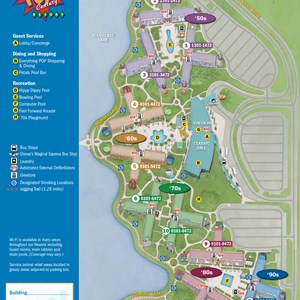 27 of 37: Walt Disney World Park and Resort Maps - New 2013 Pop Century Resort map