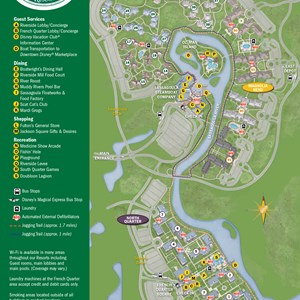 28 of 37: Walt Disney World Park and Resort Maps - New 2013 Port Orleans Resort map - Alligator Bayou