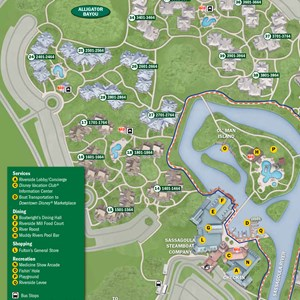 29 of 37: Walt Disney World Park and Resort Maps - New 2013 Port Orleans Resort map - Alligator Bayou