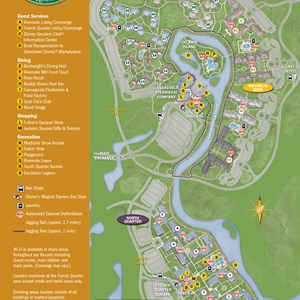 30 of 37: Walt Disney World Park and Resort Maps - New 2013 Port Orleans Resort map - Magnolia Bend