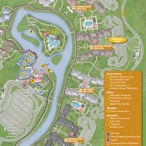 31 of 37: Walt Disney World Park and Resort Maps - New 2013 Port Orleans Resort map - Magnolia Bend
