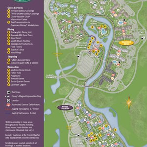 32 of 37: Walt Disney World Park and Resort Maps - New 2013 Port Orleans Resort map - French Quarter