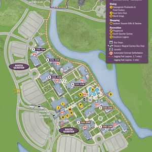 33 of 37: Walt Disney World Park and Resort Maps - New 2013 Port Orleans Resort map - French Quarter
