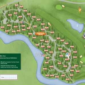 35 of 37: Walt Disney World Park and Resort Maps - New 2013 Saratoga Springs Resort map -Treehouse Villas