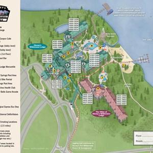 36 of 37: Walt Disney World Park and Resort Maps - New 2013 Wilderness Lodge map