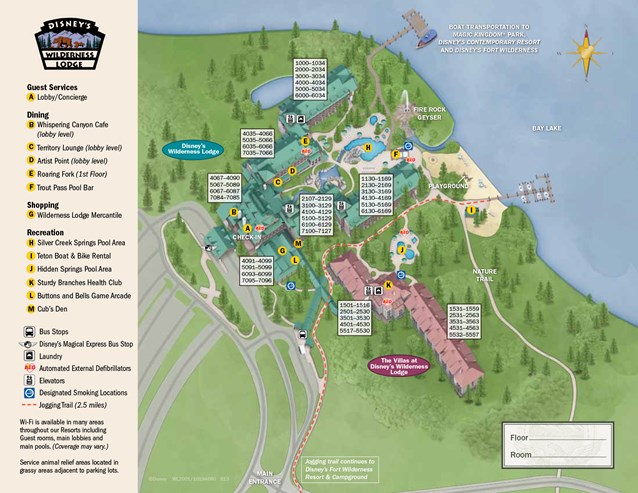Walt Disney World Park and Resort Maps - New 2013 Wilderness Lodge map
