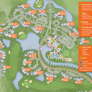 23 of 37: Walt Disney World Park and Resort Maps - New 2013 Old Key West Resort map