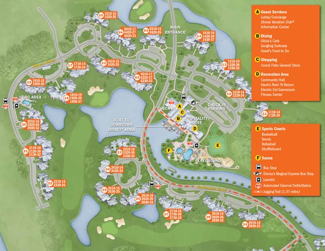 Walt Disney World Park and Resort Maps - New 2013 Old Key West Resort map