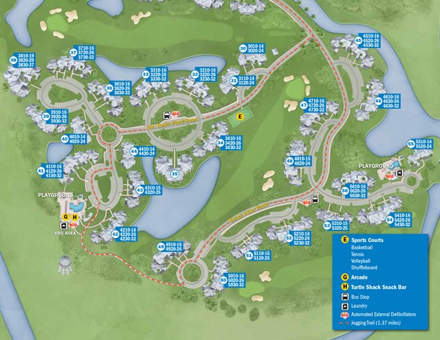 Walt Disney World Park and Resort Maps - New 2013 Old Key West Resort map