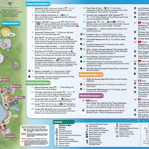 4 of 8: Walt Disney World Park and Resort Maps - 2014 Epcot guide map with FastPass+ details