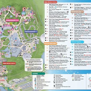 6 of 8: Walt Disney World Park and Resort Maps - 2014 Magic Kingdom guide map with FastPass+ details