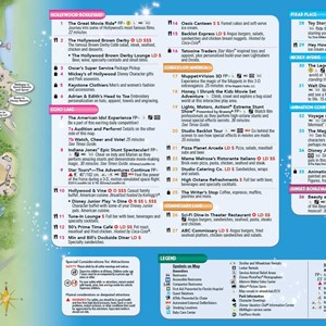 8 of 8: Walt Disney World Park and Resort Maps - 2014 Disney's Hollywood Studios guide map with FastPass+ details