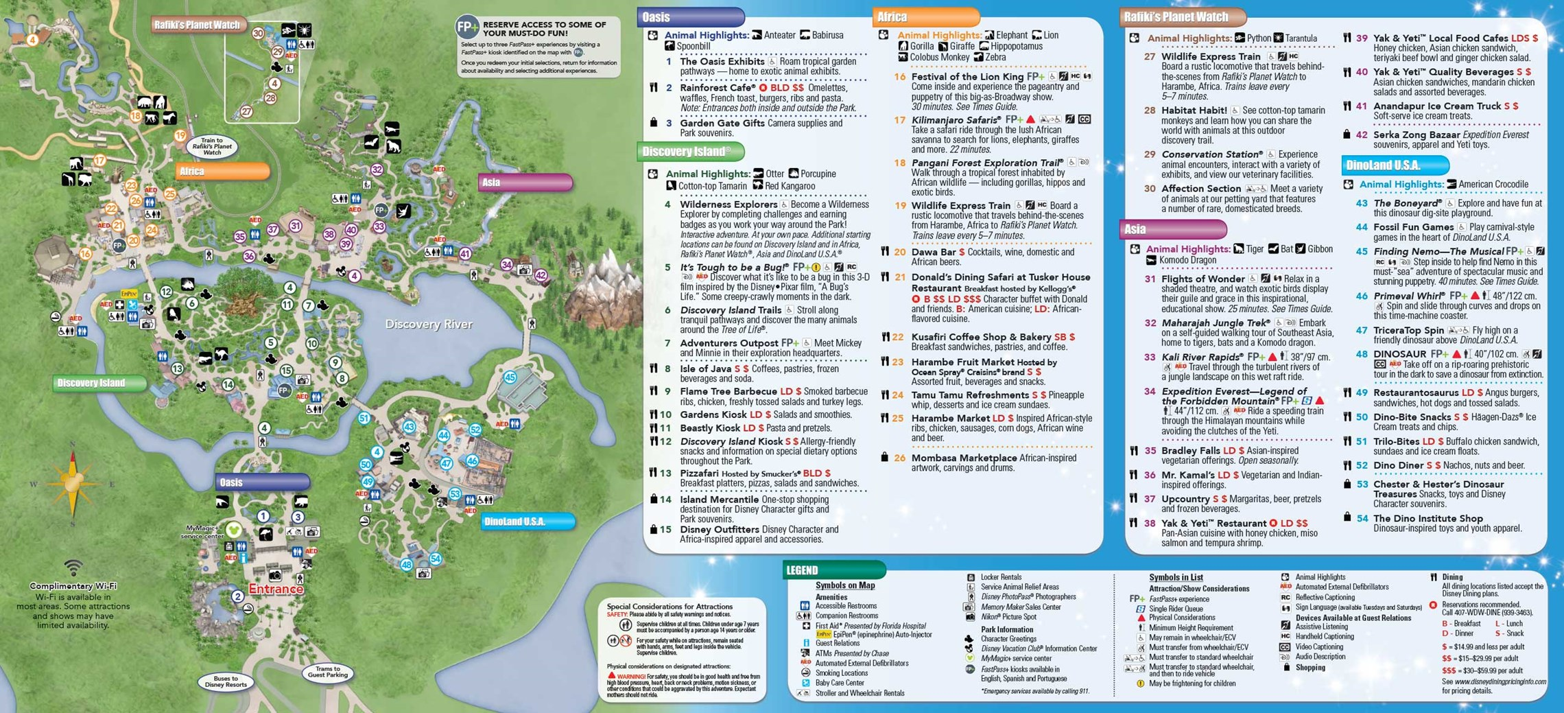 Jun 22, 2015. Disney's Animal Kingdom Guide Map May 2015 - Back ...
