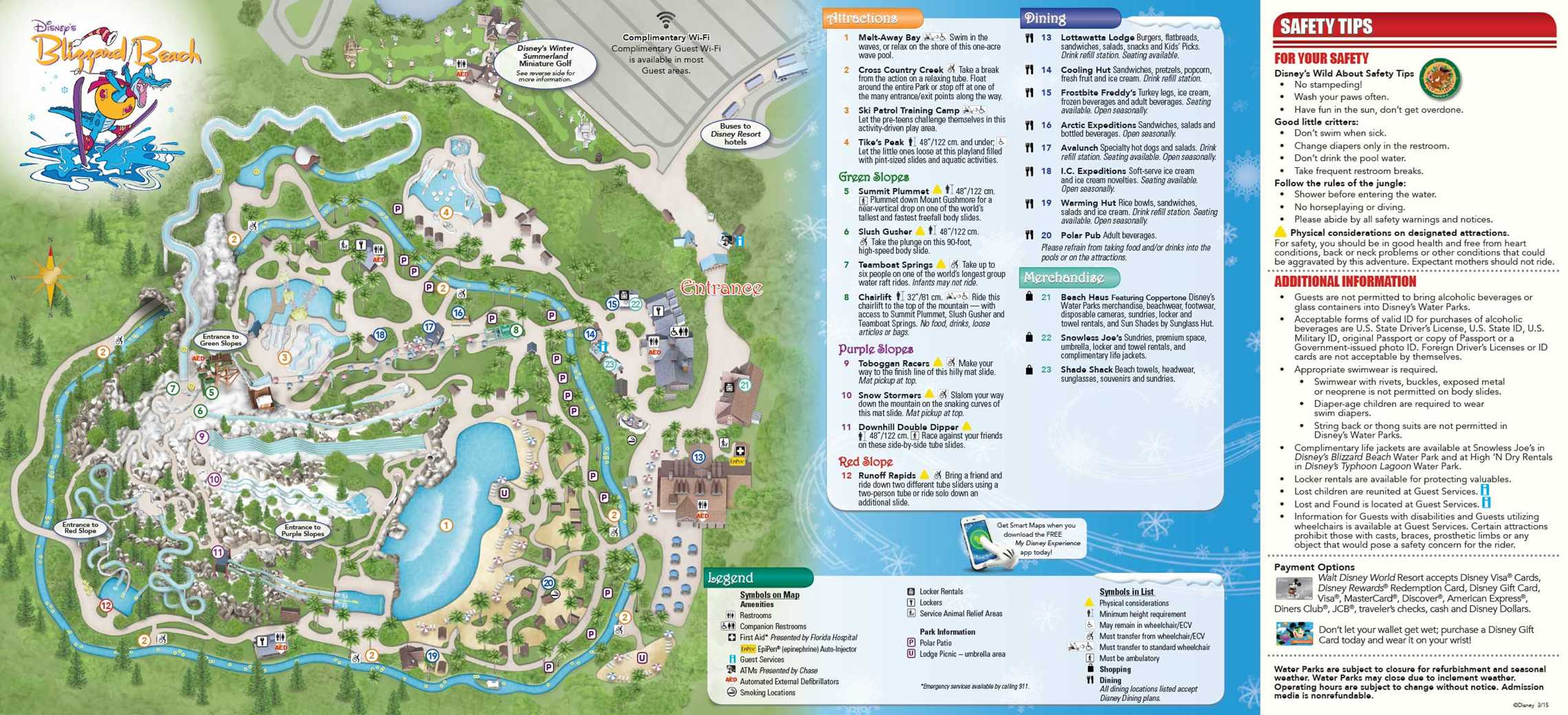 Water Park Guide Map May 2015 Blizzard Beach