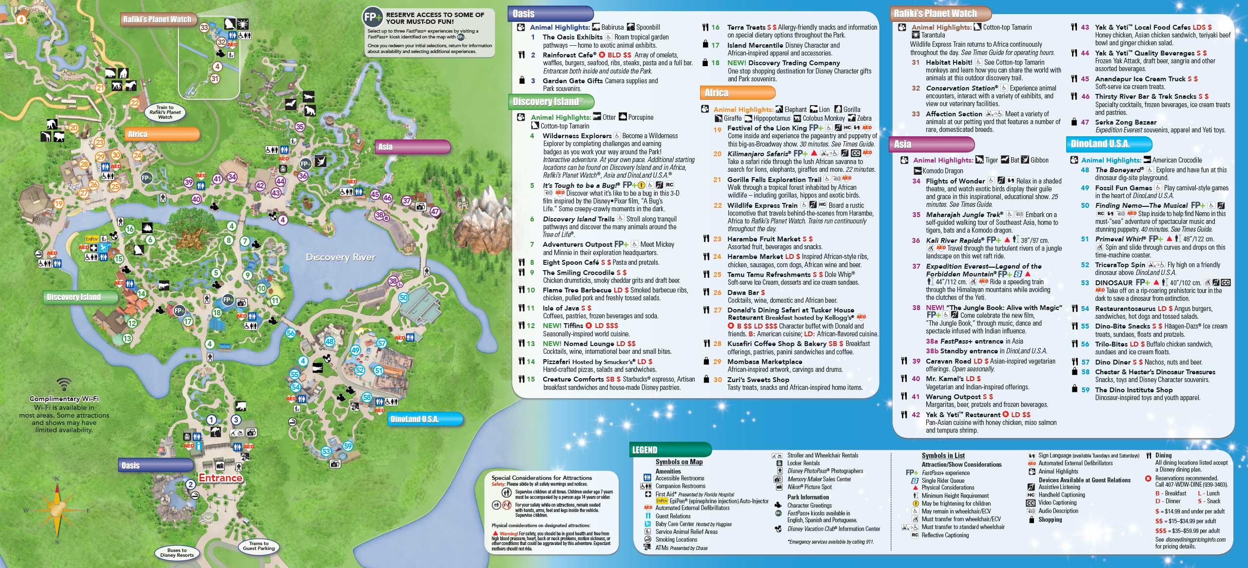 may 2016 walt disney world park maps photo 1 of 14