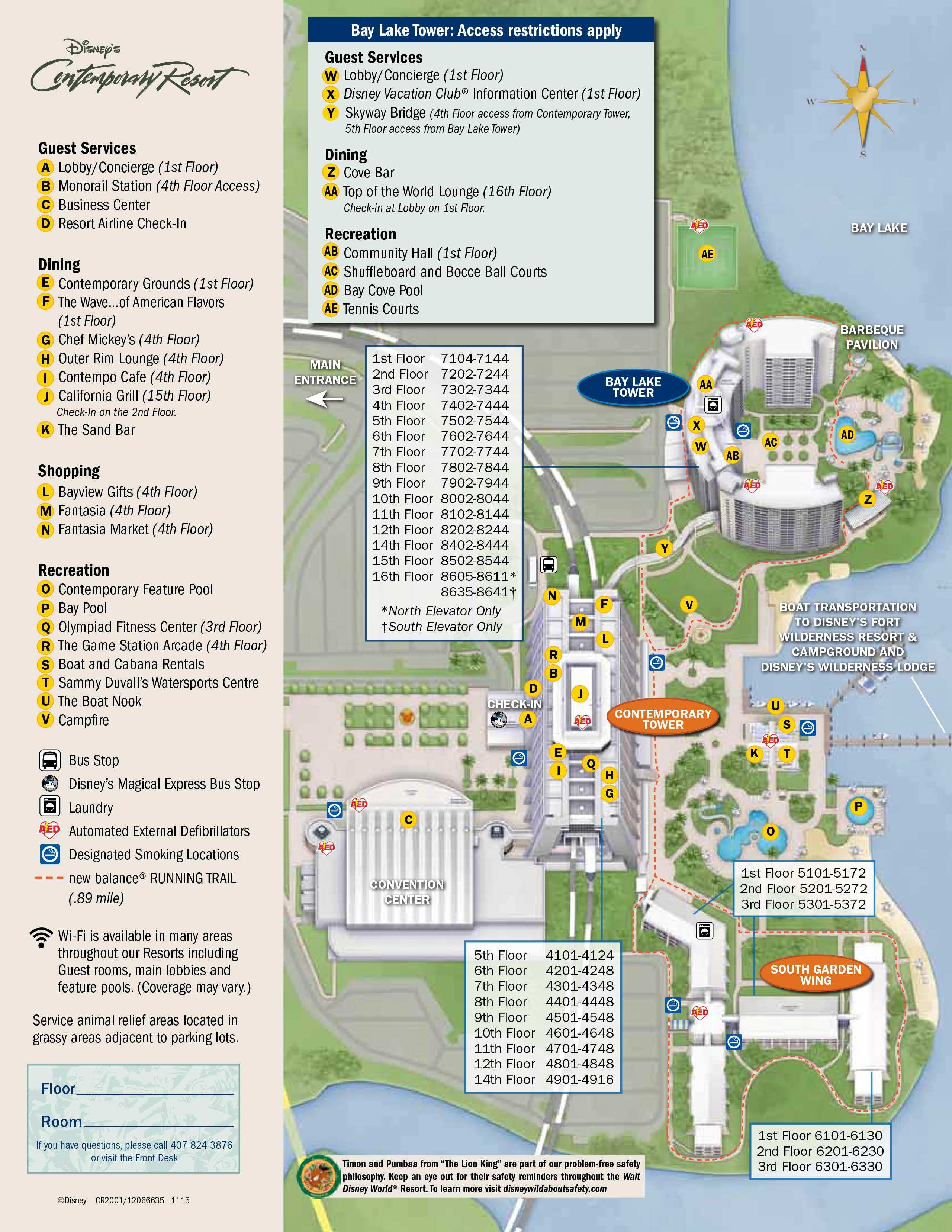 april 2017 walt disney world resort hotel maps photo 3 of 33