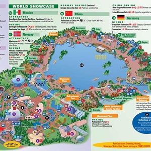 2 of 4: Walt Disney World Park and Resort Maps - Epcot map