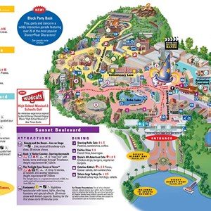 3 of 4: Walt Disney World Park and Resort Maps - Disney's Hollywood Studios map